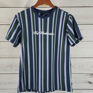 Huf• M shirt striped Huf Worldwide blue/green